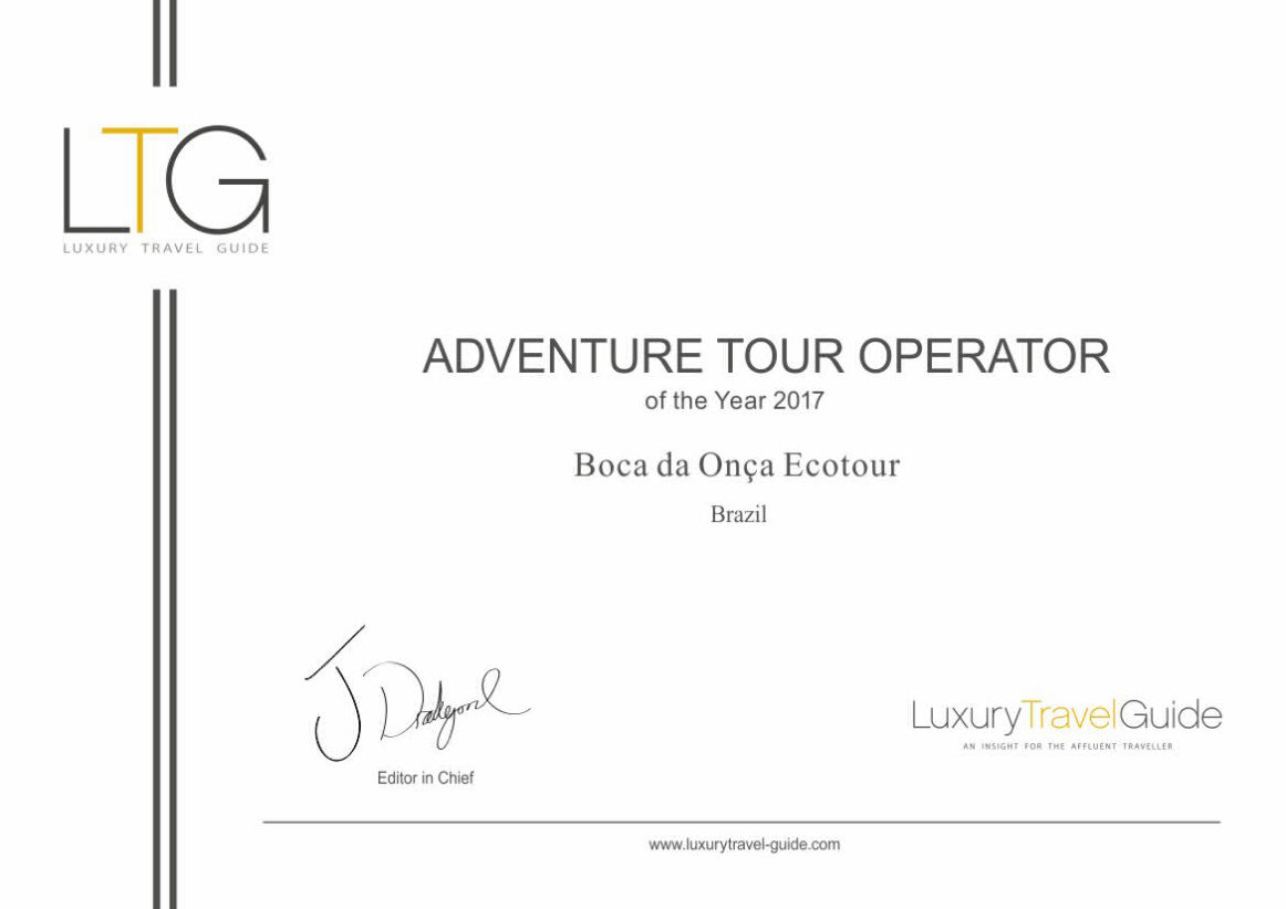 selo adventure tour operator awards boca da onça 2017.